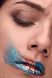 Modern Make-Up von Make-Up Künstlerin Brigitte Kelemen, für kreative Shootings in München und Nürnberg, fotografiert von Andreas Reiter